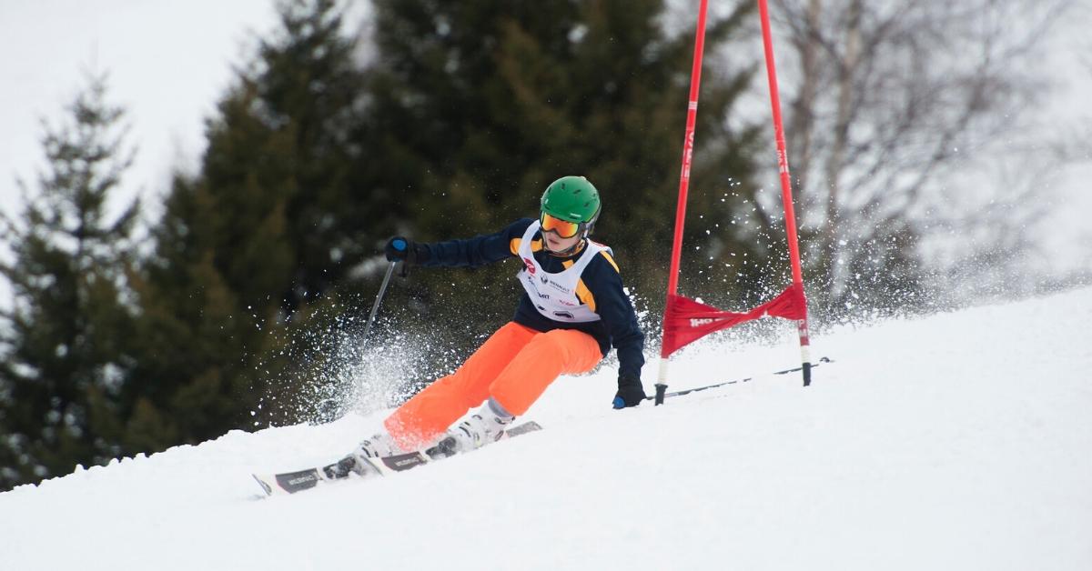 Senior Boy Takes on Grand Slalom